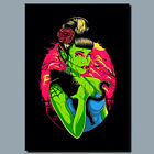 FRANKENSTEIN GIRL CAT  METAL POSTER SIGN OR CANVAS OR POSTER WALL ART