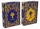 Bicycle Surena Navy and Gold Trim Back Playing Cards Persian Tazhib Art Design
