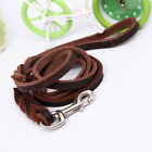 Soft Braided Leather Dog Pets Leash Lead For Training Walking Dog Long Strong