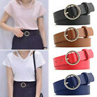 Women Vintage Metal Leather Round Buckle Waist Belt Fashion Boho Waistband Hot