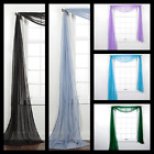 1PC ELEGANCE SHEER WINDOW SCARF VALANCE CURTAIN TOPPER SOLID COLORS 37' X 216'