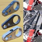 Chrome/Black/Titanium Frame Handlebar Clutch Cable Line Clamp Clip For Harley US