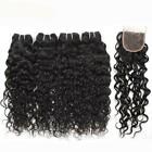Water Wave Bundles with Closure Baby Hair Remy Human
