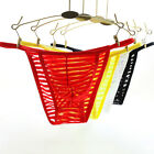 Men's Bottoms Striped See-through Pouch Sexy Thongs G-String Briefs Soft Shorts