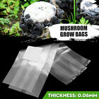10-100X Clear PVC Home Mushroom Spawn Grow Bags Substrate High Temp Pre Sealable