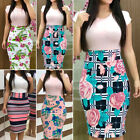 Womens Business OL Office Suit Floral Slim Bodycon Work Formal Pencil Midi Dress