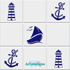 LIGHTHOUSE SAIL BOAT ANCHOR Bathroom Tile Stickers Vinyl Wall Nautical Decal