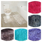 Kyпить NEW FURRY SOFT DESIGN 3PC BATHROOM SET BATH RUG CONTOUR MAT TOILET LID COVER #9 на еВаy.соm