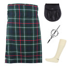 4 Piece Kilt Package with Pin Hose and Sporran - Sizes 30-44 - MacKenzie Modern
