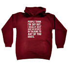 Funny Kids Childrens Hoodie Hoody - People Think Im Shy But I Really Just Have N