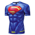 Men's Superman Compression Gym Workout Fitness T-shirt Superhero Costume Cosplay image