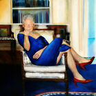 "Bill Clinton Blue Dress Poster 32x32"" 24x24"" 18x18"" Art Print Silk фото"
