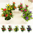 Artificial Flowers Plant Outdoor Home Office Decoration Gift 5-color With Pot