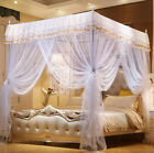 Princess 4 Corner Post Bed Canopy Mosquito Netting Or Frame/Post Twin Full Queen image