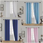 Kyпить 1SET 100% BLACKOUT FAUX SILK WINDOW LINED CURTAIN PANEL DRAPE SILVER GROMMET AAN на еВаy.соm