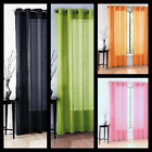 Kyпить 2PC SOLID SHEER INDOOR PANEL 8 BRONZE GROMMETS WINDOW CURTAIN VERSATILE RUBY  на еВаy.соm