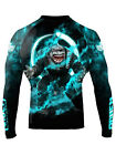 Raven Fightwear Men's Great White Shark Rash Guard MMA BJJ Black