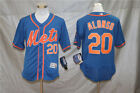 New York Mets #20 Pete Alonso Men's Stitched Jersey Full Size Blue on Ebay