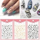 Nail Art Stickers 3D Flower Leaves Transfer Decals Waterproof Design Decorations