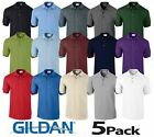 5 Pack Gildan Softstyle Adult Double Pique Plain Polo Shirt Tee T Shirt