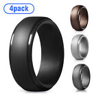 Silicone Wedding Engagement Ring Men Women Rubber Band Gym Sport Flexible-4 Pack
