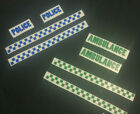 Kids Roleplay Stick On Police, Ambulance, Fire Dept., Rescue Stickers (decals)