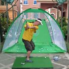 UK Foldable Golf Hitting Cage Training Indoor Outdoor Swing Trainer Chipping Net