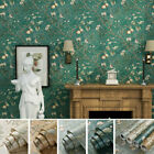 Vintage Country Flower Pattern Wall Sticker Decal Rolls Mural Home Decorations