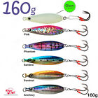 Fish WOW! 160g Fall Flat Fishing Vertical Speed Knife Jig Fish Lure Bait lot NEW