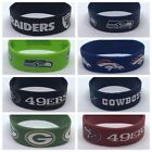 NFL Football Silicone Rubber Wristband Bracelets Choose Your Team Free Shipping $5.99 USD on eBay
