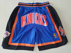 New Men's New York Knicks just don basketball pants shorts retro mesh blue on eBay