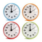4 Color Bathroom Shower Waterproof Wall Clock Large Sucker Without Battery Home