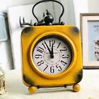 New Vintage Clock, Desk Clock, Square Wrought Iron Clock, Home Decoration,  A9W1