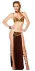 Sexy Star Wars Women Princess Leia Cosplay Bra Top Dress Bikini Slave Costume JW
