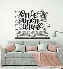 Vinyl Wall Decal Once Upon A Time Tale Book Library Kids Room Stickers (g1507)