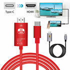USB-C Type-C to HDMI HDTV AV TV Adapter Cable 4K For Samsung S10/S9 Plus/Note 9