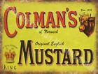 Colman's Mustard Advert Vintage Kitchen Cafe Pub Me Metal/Steel Wall Sign