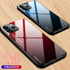 Luxury Slim Hybrid Case Gradient Back Glass Cover For Iphone 11 Pro Max Xr 8 7 6