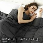 "60""x80"" Weighted Blanket 20lbs Full Queen Size Reduce Stress Promote Deep Sleep image"