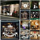 Christmas Xmas Santa Removable Window Stickers Art Decal Wall Home Shop Decor Uk