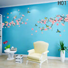 Peach Blossom Flower Tree Branch Birds Wall Stickers Home Decal Living Decor #zh