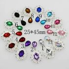 10pcs / lot Silver accessories rhinestone alloy brooch clothing decoration craft