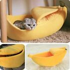 1 Pc Banana Cat Bed House Cozy Cute Puppy Cushion Kennel Warm Portable Pet Baske