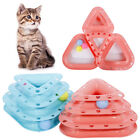 CO_ 3-Layer Ball Turntable Interactive Track Cat Dog Play Toys Pet Supplies Late