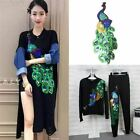 1 Pc Peacock Sequins Patches For Clothing Sewing Garment Applique Embroidery Acc
