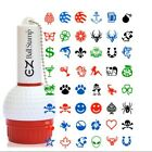 EZBallStamp - Golf Ball Stamp - Refillable, Multiple colors and designs