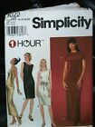 Choose a Simplicity Dress PATTERN sz 6-24 sheer sheath flare Top scarf easy