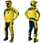 New Shift Racing White Label York Yellow Motocross Gear Kit Combo Enduro OUTLET