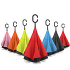 Inverted C-Handle Double Layer Umbrella Windproof Folding Upside Down Revers UV
