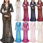 Maternity Maxi Gown Pregnant Women Lace Dress Photography Photo Props Clothes H